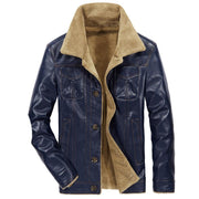 West Louis™ Winter Fur Male Fleece Jackets