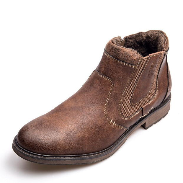 West Louis™ Brand Fashion Leather Chelsea Boots