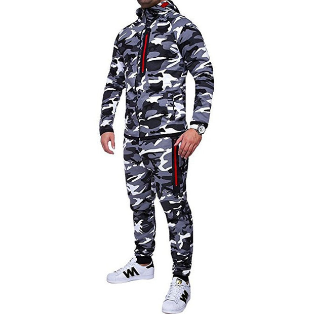 West Louis™ Spring Camouflage Hooded Tracksuit