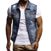 West Louis™ Sleeveless Jeans Jacket  - West Louis