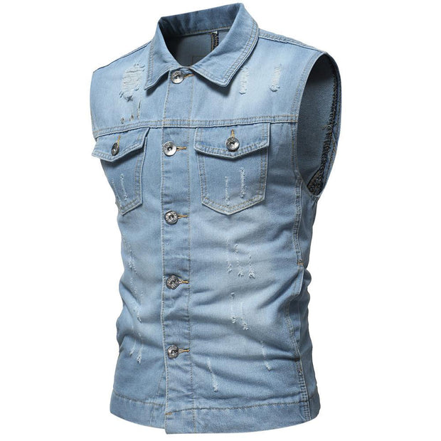 West Louis™ Sleeveless Jeans Jacket Blue / L - West Louis