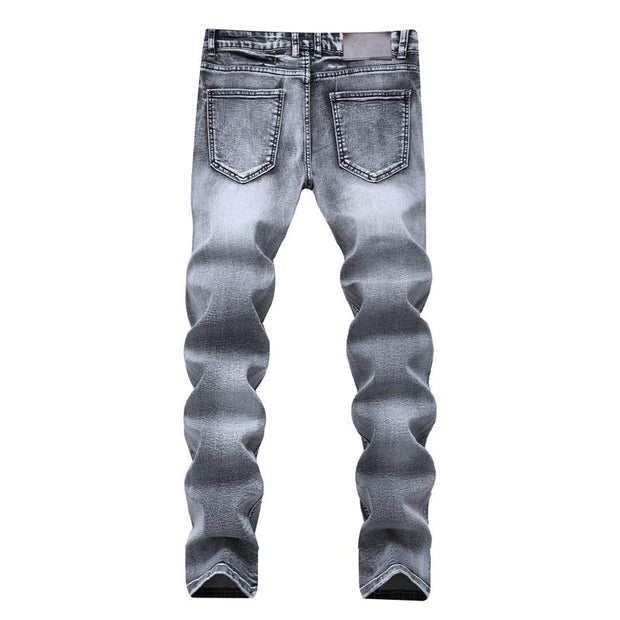 West Louis™ Stylish Stretch Elastic Jeans  - West Louis
