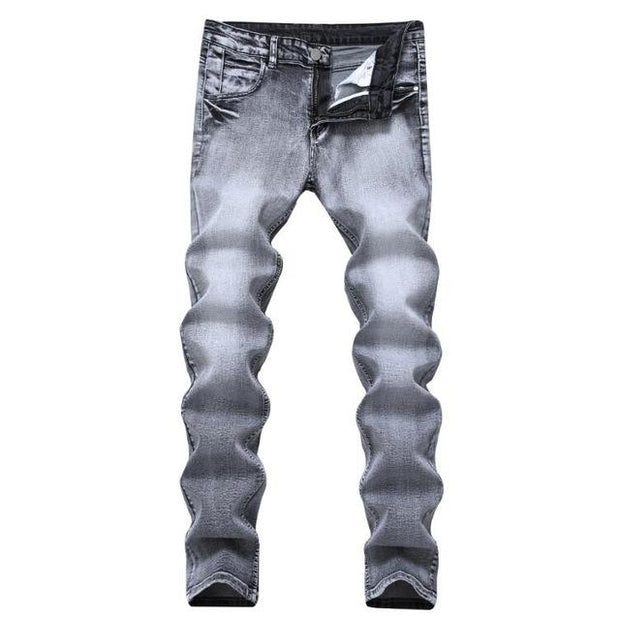 West Louis™ Stylish Stretch Elastic Jeans Gray / 28 - West Louis