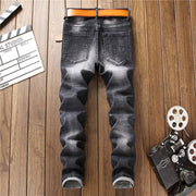 West Louis™ Elastic Washed Ripped Jeans  - West Louis