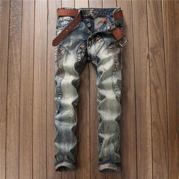West Louis™ Vintage Brand Trend Jeans Blue / 30 - West Louis