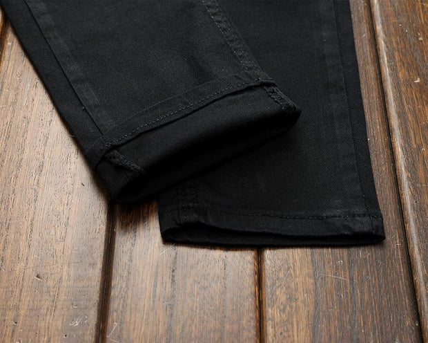 West Louis™ Black Masculina Cotton Jeans  - West Louis