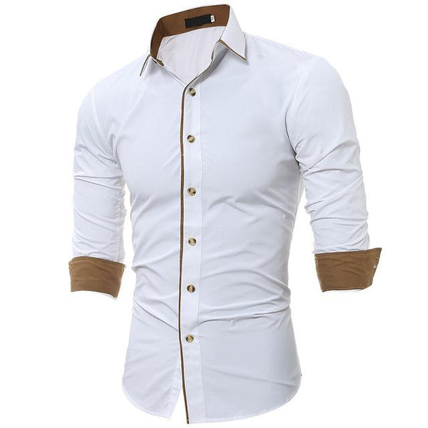 West Louis™ High Quality Fashion Men's Shirts White / XS - West Louis