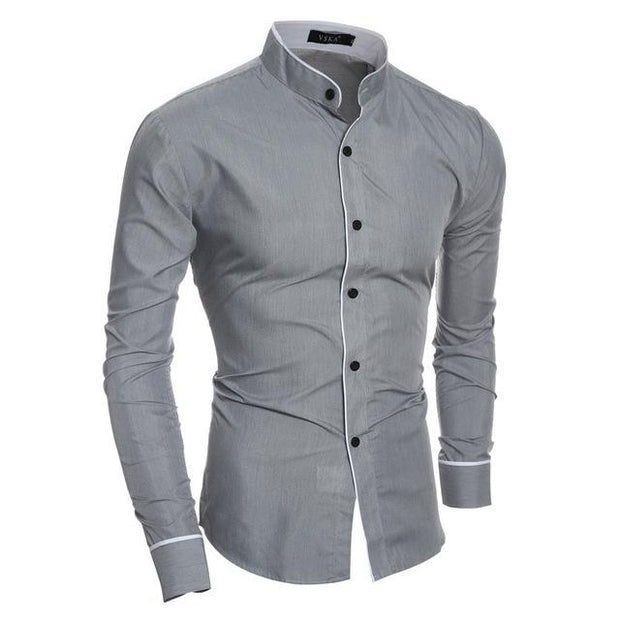West Louis™ Fashion Trend Dress Shirt Gray / L - West Louis