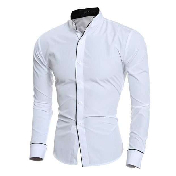 West Louis™ Fashion Trend Dress Shirt White / L - West Louis