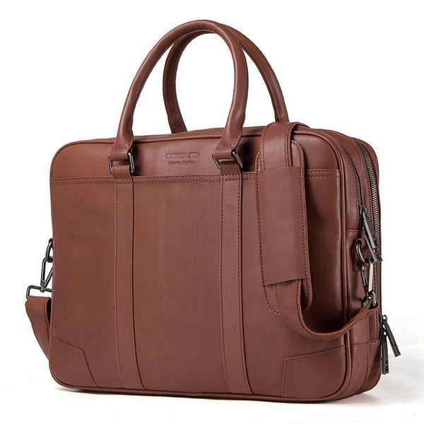 West Louis™ Brand Genuine Leather Portfolio Briefcase