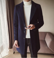 West Louis™ England Wool Long Overcoat
