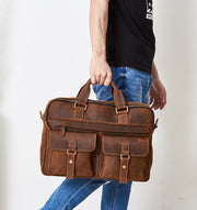 West Louis™ Vintage Style Leather Briefcases