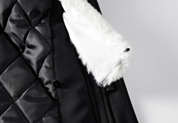 West Louis™ Cotton-Padded With Fur Hood Coat