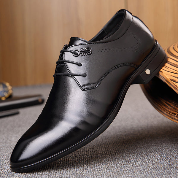 West Louis™ Leather Business Pointed Toe Shoes