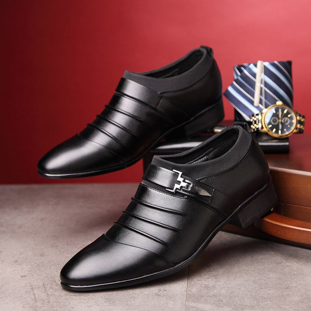 West Louis™ Leather Business Formal Dress Shoes