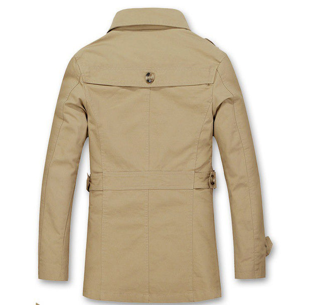 West Louis™ Autumn Trench Coat Fashion Design