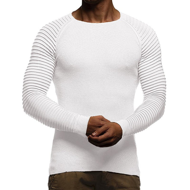 West Louis™ Solid Color O Neck Autumn Pullover