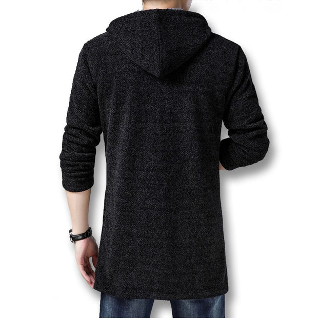 West Louis™ Style Thick Fleece Knitted Cardigan