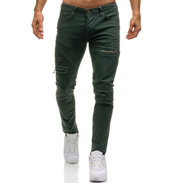 West Louis™ Stylish Holes Skinny Denim Jeans