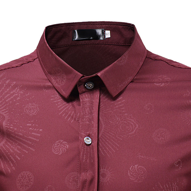 West Louis™ Fashion Skulls Floral Shirt
