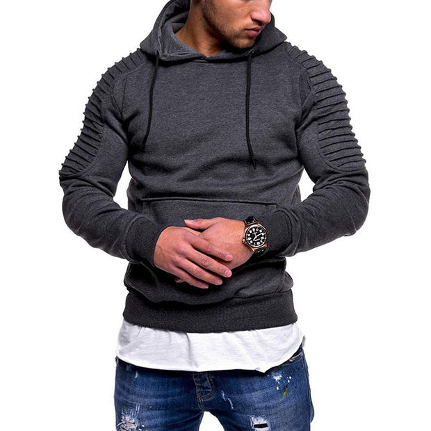 West Louis™ Fashion Pleated Hoodie