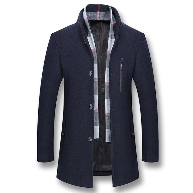 West Louis™ Business Woolen Pea Coat