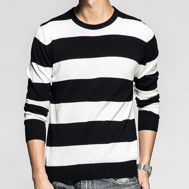 West Louis™ Casual Striped Autumn Pullover