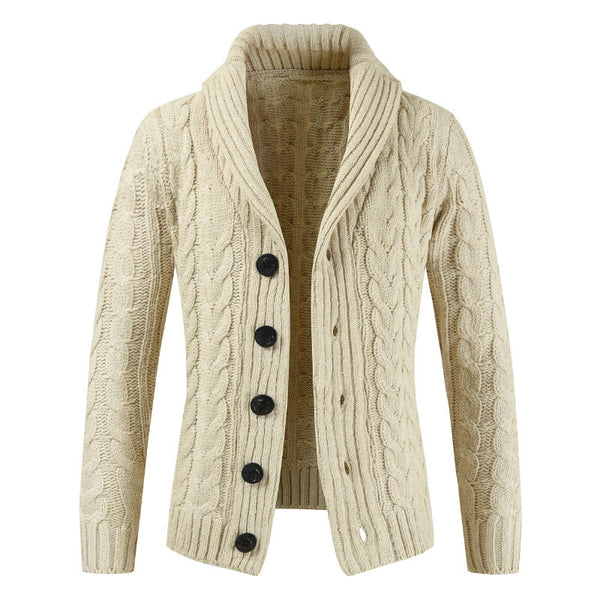 West Louis™ Trending Lapel Knit Sweater