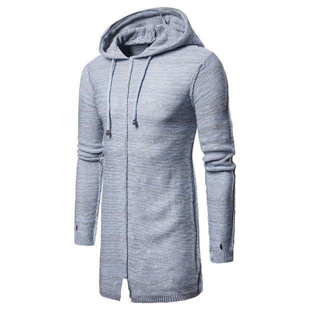 West Louis™ Long Wool Stitching Hooded Sweater