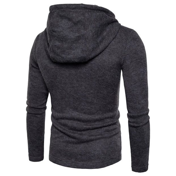West Louis™ Fashion Double Row button Hoodie