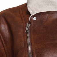 West Louis™ Faux Suede Brown Outwear Jacket