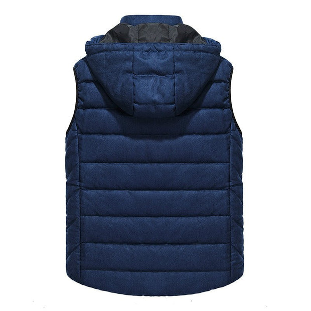 West Louis™ Thicken Warm Hooded Waistcoat