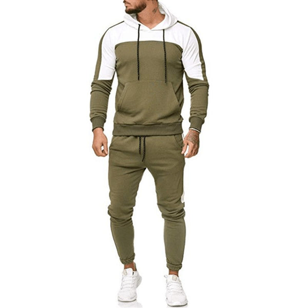 West Louis™ Cotton Drawstring Patchwork TrackSuit
