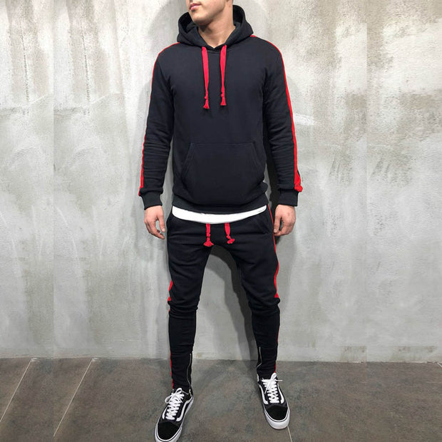 West Louis™ Hooded Zipper Button Tracksuit