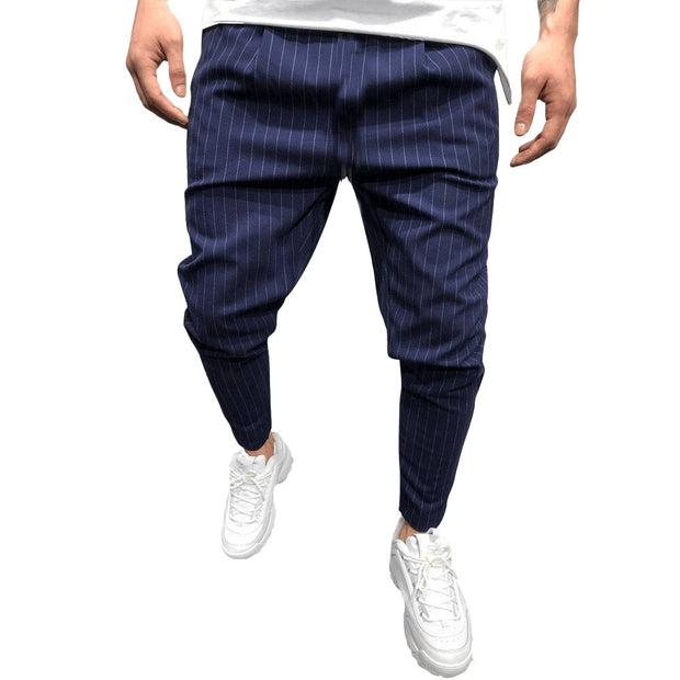 West Louis™ Streetwear Loose Stripe Middle Waist Pants