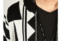 West Louis™ Geometric Knitwear Sweater Cardigan