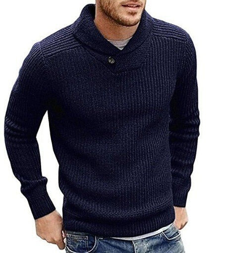 West Louis™ Turtleneck Pullover Button Sweater