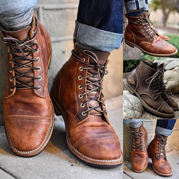 West Louis™ Hiking Lace-up Ankle Martin Boots