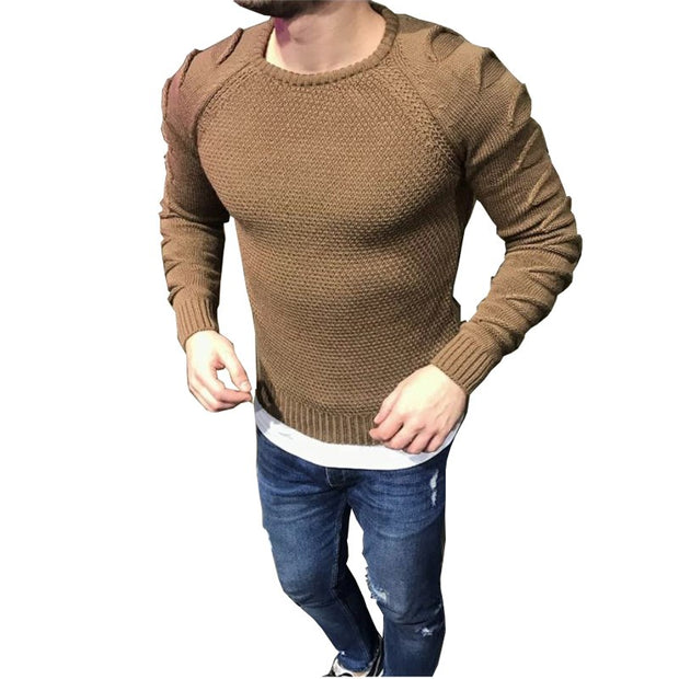 West Louis™ Ruched Hollow Out O Neck Sweater