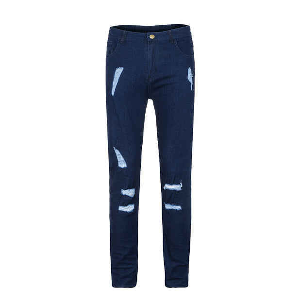 West Louis™ Trend Knee Holes Zippers Jeans