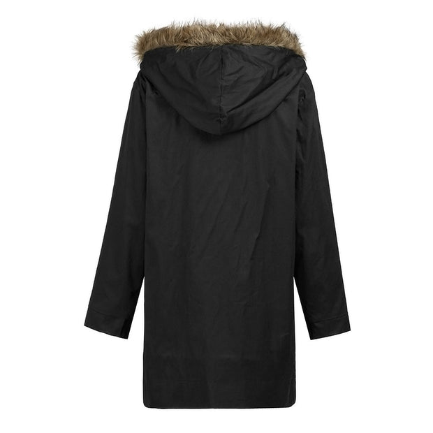 West Louis™ Windproof Fur Hood Style Coat