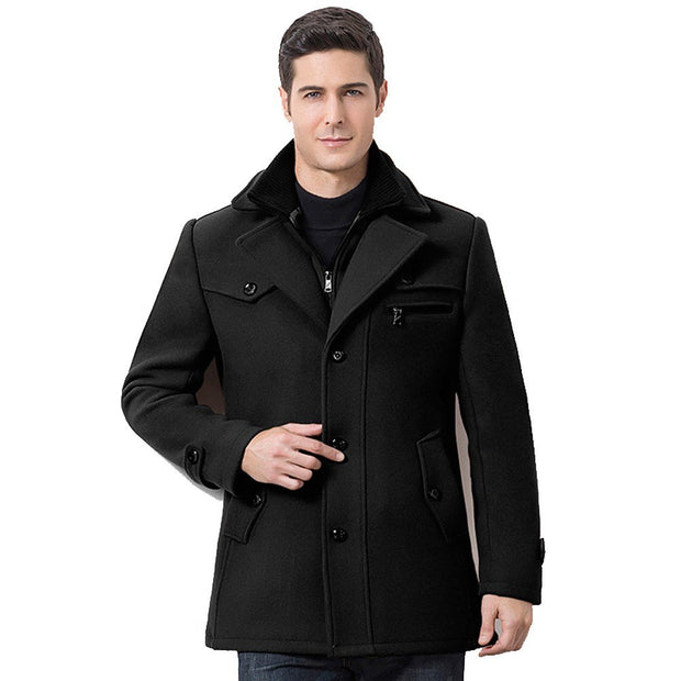 West Louis™ Design Winter Woolen Business Coat