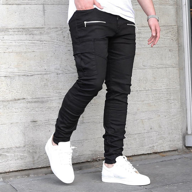 West Louis™ Brand Zipper On Pocket Pencil Pants