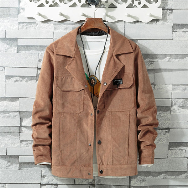 West Louis™ Corduroy Turn Down Collar Jacket