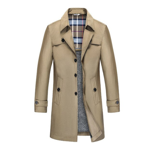 West Louis™ Designer Business Trench Coat