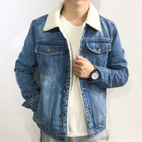 West Louis™ Fashion Velvet Denim Jacket