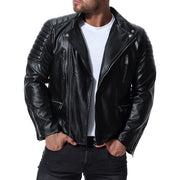 West Louis™ Spring Biker Style Leather Jacket