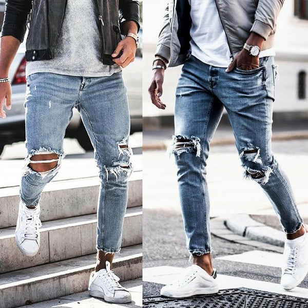 West Louis™ Trend Style Hole Jeans