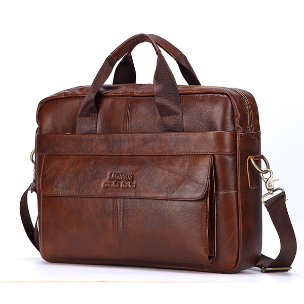 West Louis™ Universal Genuine Leather Briefcase