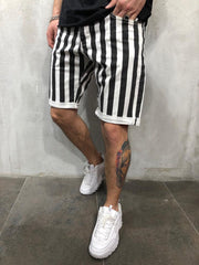 West Louis™ Striped Jogging Sweat Shorts